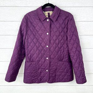 Burberry London Purple Quilted Jacket Size Medium